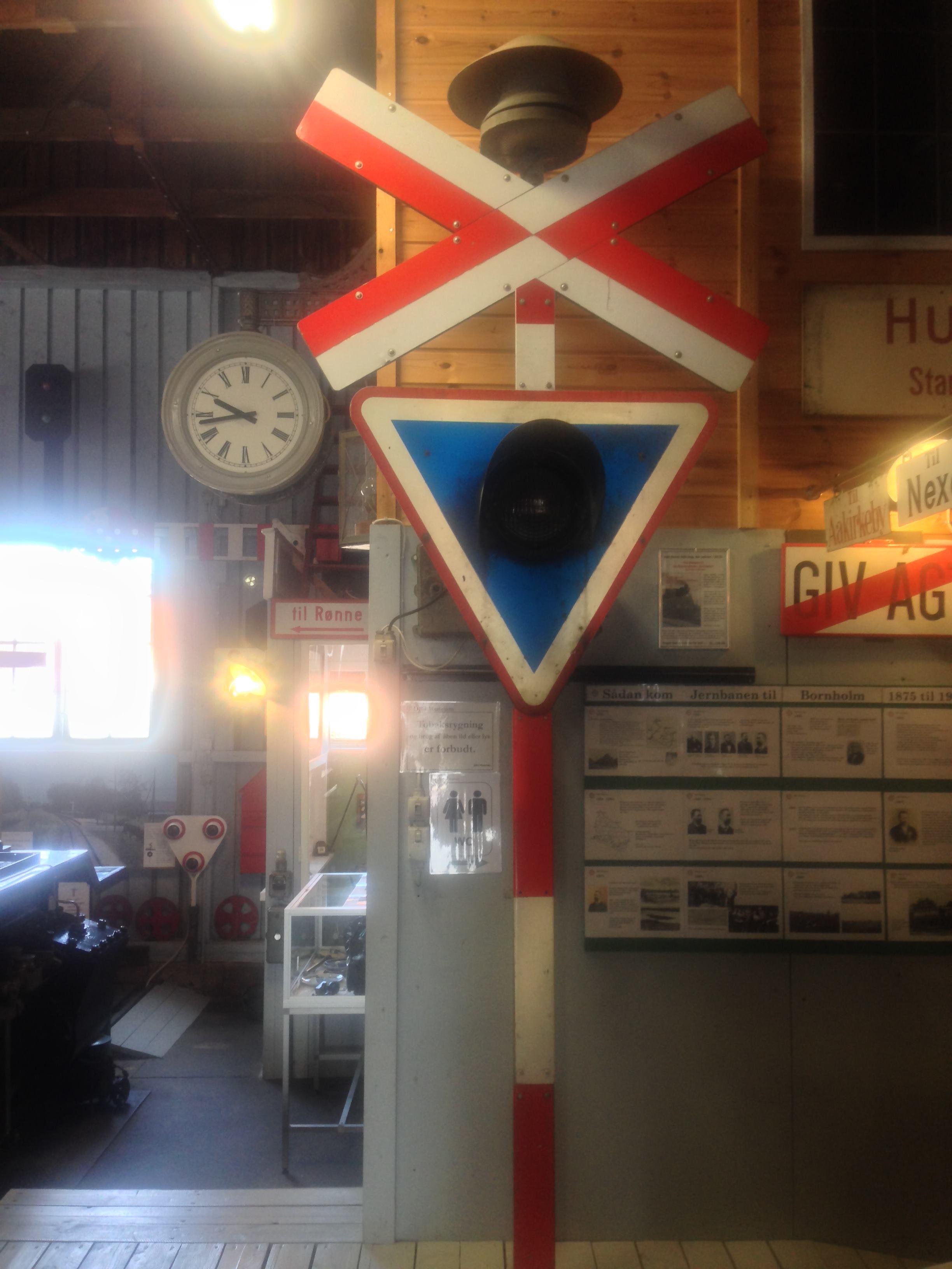 Signalanlage im Eisenbahnmuseum Nexø